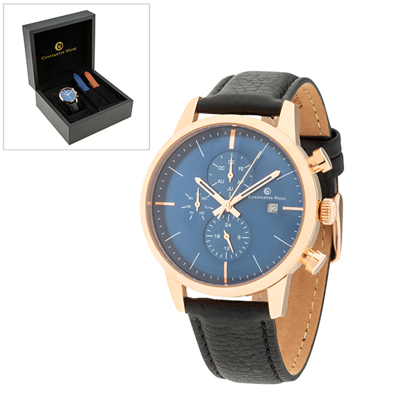 Constantin Weisz Gent's Automatic Watch with Interchangeable Strap Blue