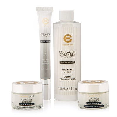 Elizabeth Grant Collagen Snow Algae 3 Piece Collection with Day Cream 50ml, Night Cream 50ml, Eye Treatment 20ml and Bonus Cleansing Cream 240ml