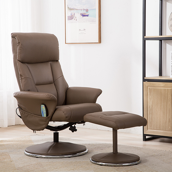 60% off Naples Swivel Recliner and Footstool with Heat & Massage