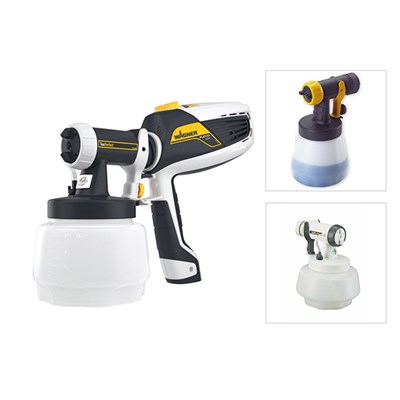 Wagner Universal Sprayer W 525 Flexio with Textured Attachment, Wallperfect and Wood & Metal Attachment