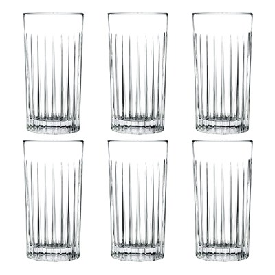 RCR Timeless Set of 6 Crystal High Ball Glasses