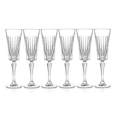 RCR Timeless Set of 6 Champagne Flutes
