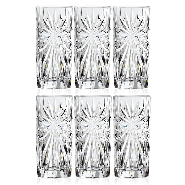 RCR Oasis Set of 6 High Ball Glasses No Colour