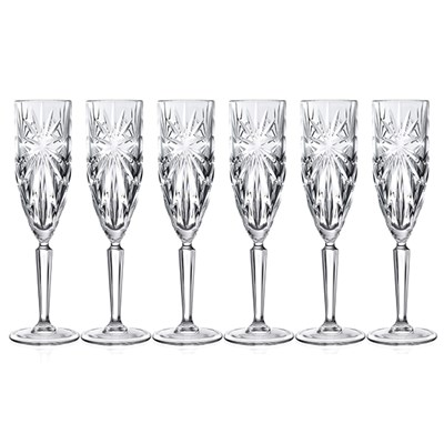 RCR Oasis Set of 6 Champagne Flutes