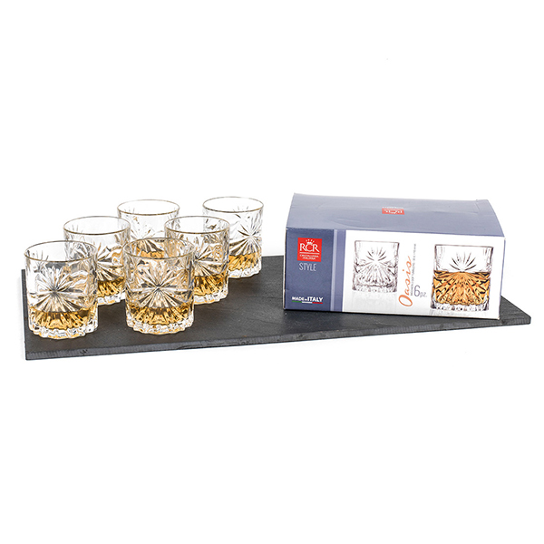 RCR Oasis Set of 6 Whiskey Glasses No Colour