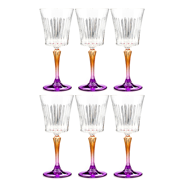 RCR Gipsy Set of 6 Goblets Purple