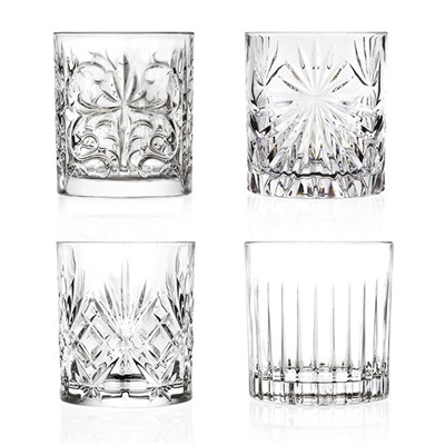 RCR Crystal Set of 4 Mixed Tumblers