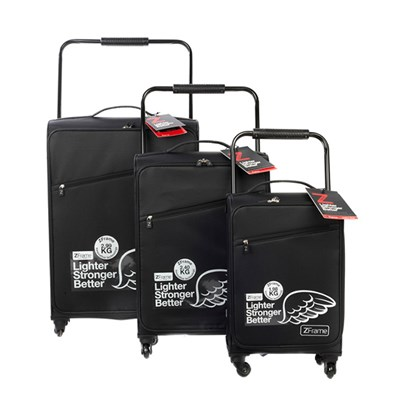 Z Frame 3PC Luggage Set Black