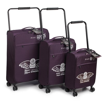 Z Frame 8 Wheel 3PC Luggage Set Purple