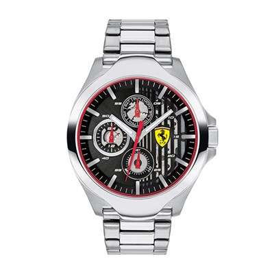 Scuderia Ferrari Gents Aero Watch with Stainless Steel Case