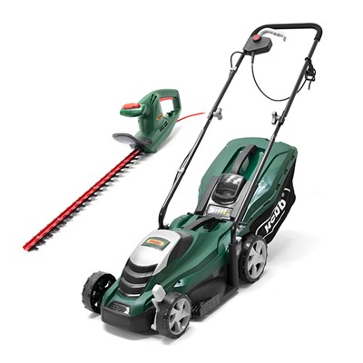 Webb WEER33 33cm Electric Rotary Lawnmower & WEELT500 Electric 51cm Hedge Trimmer
