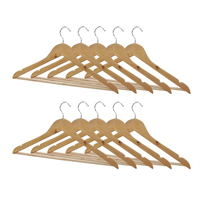 Wooden Coat Hangers (Pack of 10)