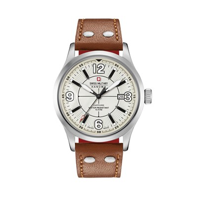 Swiss Military by Hanowa Gents Undercover Watch with Genuine Leather Strap