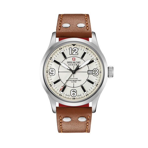 Swiss Military by Hanowa Gent's Undercover Watch with Genuine Leather Strap Brown