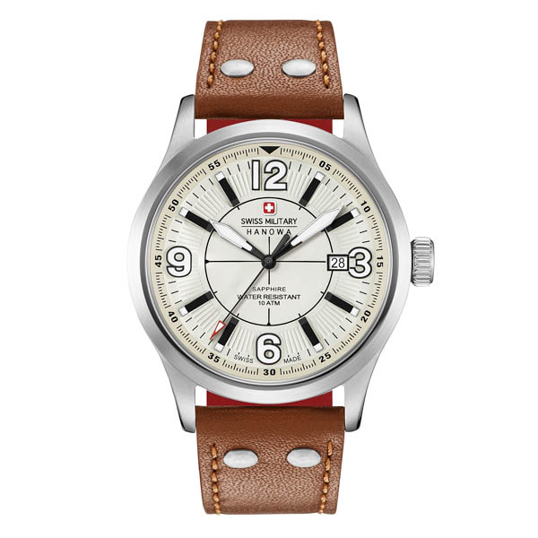 Swiss Military by Hanowa Gent's Undercover Watch with Genuine Leather Strap White
