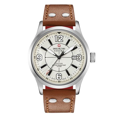 Swiss Military by Hanowa Gent's Undercover Watch with Genuine Leather Strap
