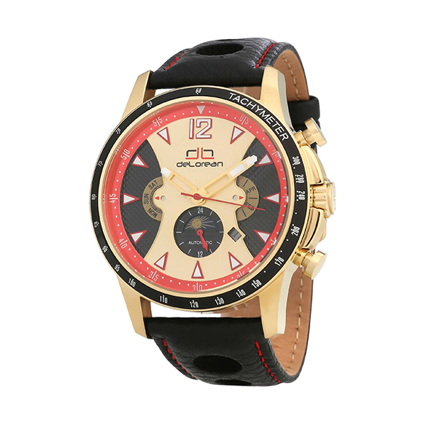20% off deLorean Gent's Limited Edition Automatic Fusion Watch with Genuine Leather Strap