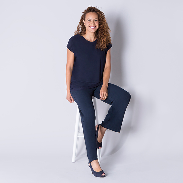 Must Ruched Side Top Navy