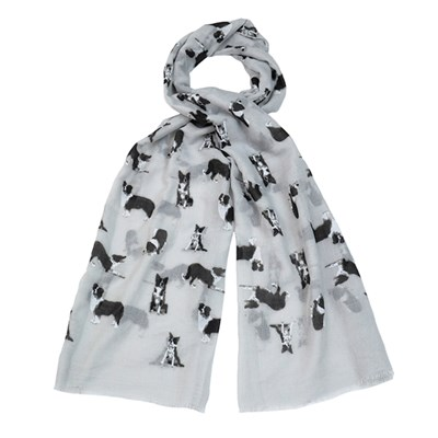 Novelty Dog Print Scarf