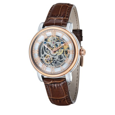 Thomas Earnshaw Gent's Longcase Automatic Watch with Genuine Leather Strap