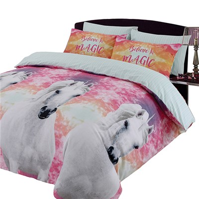 Unicorn Believe In Magic Duvet Set Double