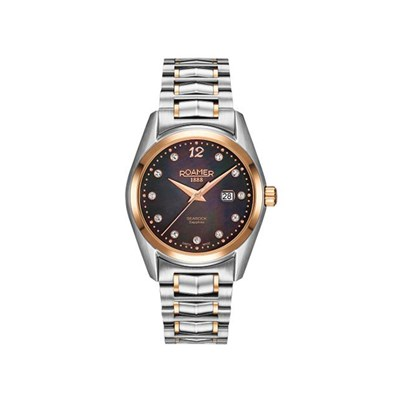 Roamer of Switzerland Ladies Searock Watch with MOP Dial and Two-Tone Stainless Steel Bracelet