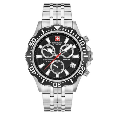 Swiss Military By Hanowa Gent's Chronograph Patrol Watch with Stainless Steel Bracelet