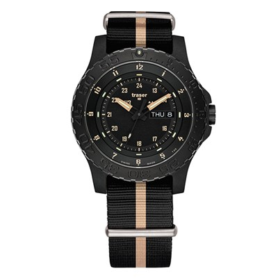 Traser Gents Swiss P66 Sand Watch, Textile Strap,