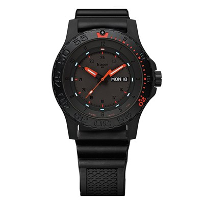 Traser Gent's Swiss P66 Red Combat Watch