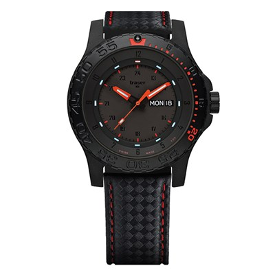 Traser Gents Swiss P66 Red Combat Watch