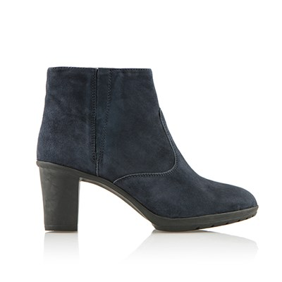 Scholl Orelle Suede Heeled Ankle Boot