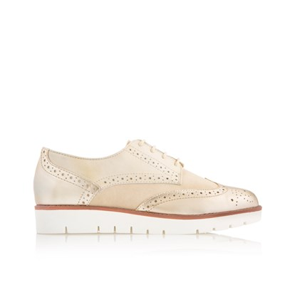 Scholl Virginia Leather and Suede Brogue
