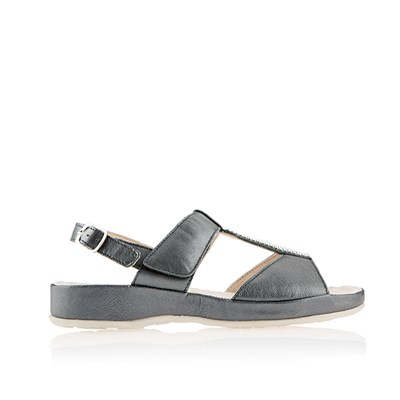 Scholl Zelma Leather Diamante Sandal