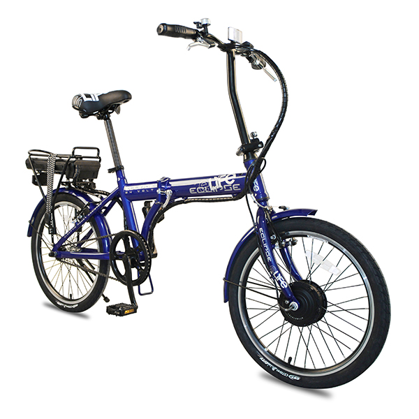 eLife Eclipse 24V 250W Electric Folding Bike with 20inch Wheel Navy