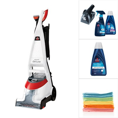 Bissell PowerWash Deluxe Carpet Cleaner with Bissell Oxy Kit, 1x Double Concentrate Formula and 20 Pack Microfibres