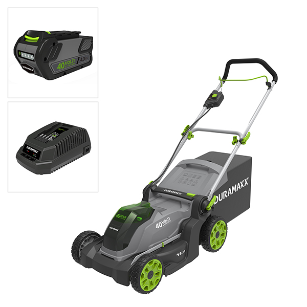 Duramaxx 40V Cordless 41cm Lawnmower with 1x 4Ah Lithium-ion Battery and Charger No Colour