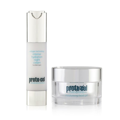 Proto-col Coral and Collagen Moisturising Facial Gel 50ml and Night Cream 50ml