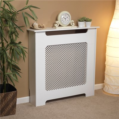 Beldray EH1840STK Wooden Radiator Cover, 100% FSC, Small, White Satin Finish