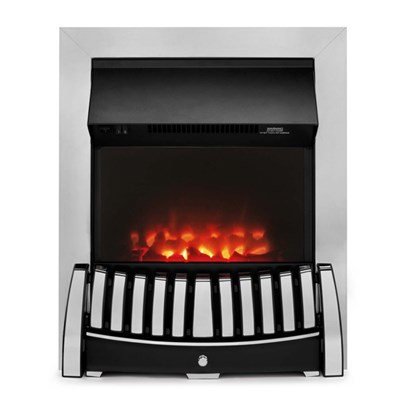 Beldray EH1843STK Almeria Chrome Effect Inset Electric Fire