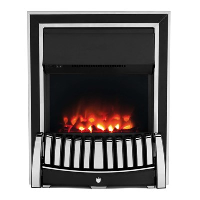 Beldray EH1908STK Almeria Premium Inset/Free Standing Electric Fire, 2000 W, Chrome