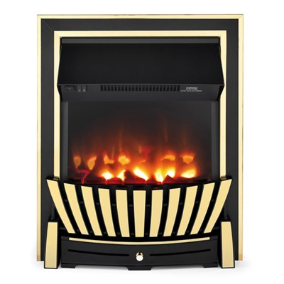 Beldray EH2352 Almada Premium Brass Effect Inset or Free Standing Electric Fire
