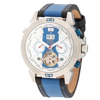 deLorean Gent's Limited Edition Fast Lane Automatic Watch with Genuine Leather Strap