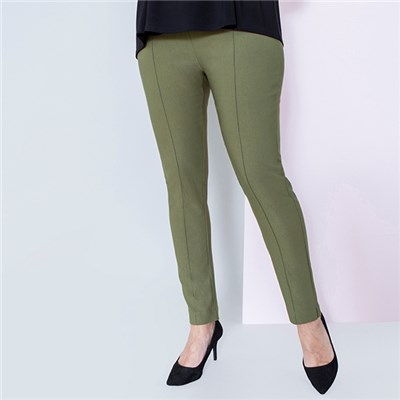 Emelia Superstretch Bengaline Ankle Grazer Side Split Trousers 29 inch