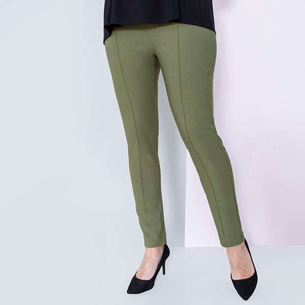Emelia Superstretch Bengaline Side Split Trouser 29 Inch Olive