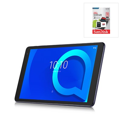 Alcatel 1T10, 10 inch Android 8 Go Edition Tablet with 16GB Expandable Storage, 1GB RAM, Kids Mode and 4000mAh Battery with Free SanDisk 16GB MicroSD