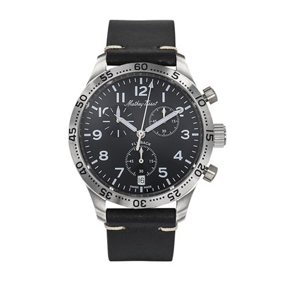 Mathey-Tissot Gent's Fly Back Chronograph with ETA G10.212 Movement and Genuine Leather Strap
