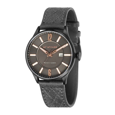 James McCabe Gent's London Slim Watch with Genuine Leather Strap