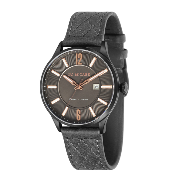 James McCabe Gent's London Slim Watch with Genuine Leather Strap Brown
