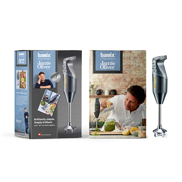 £100 off Bamix Jamie Oliver inc. Multi Purpose Blade, Whisk, Beater and Recipe Booklet by Jamie Oliver