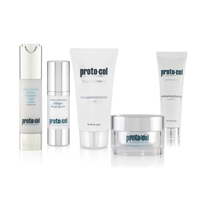 Proto-Col 15th Anniversary Skincare Collection Microdermabrasion 60ml, Face Gel 20ml, Night Cream 50ml, Face Mask 50ml and Silk Serum 30ml